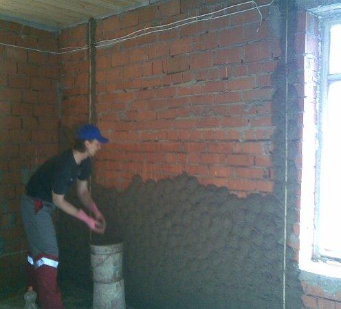 черновая отделка стен дома